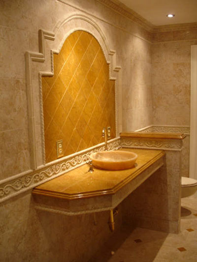 Tumbled Marble Backsplash Tiles